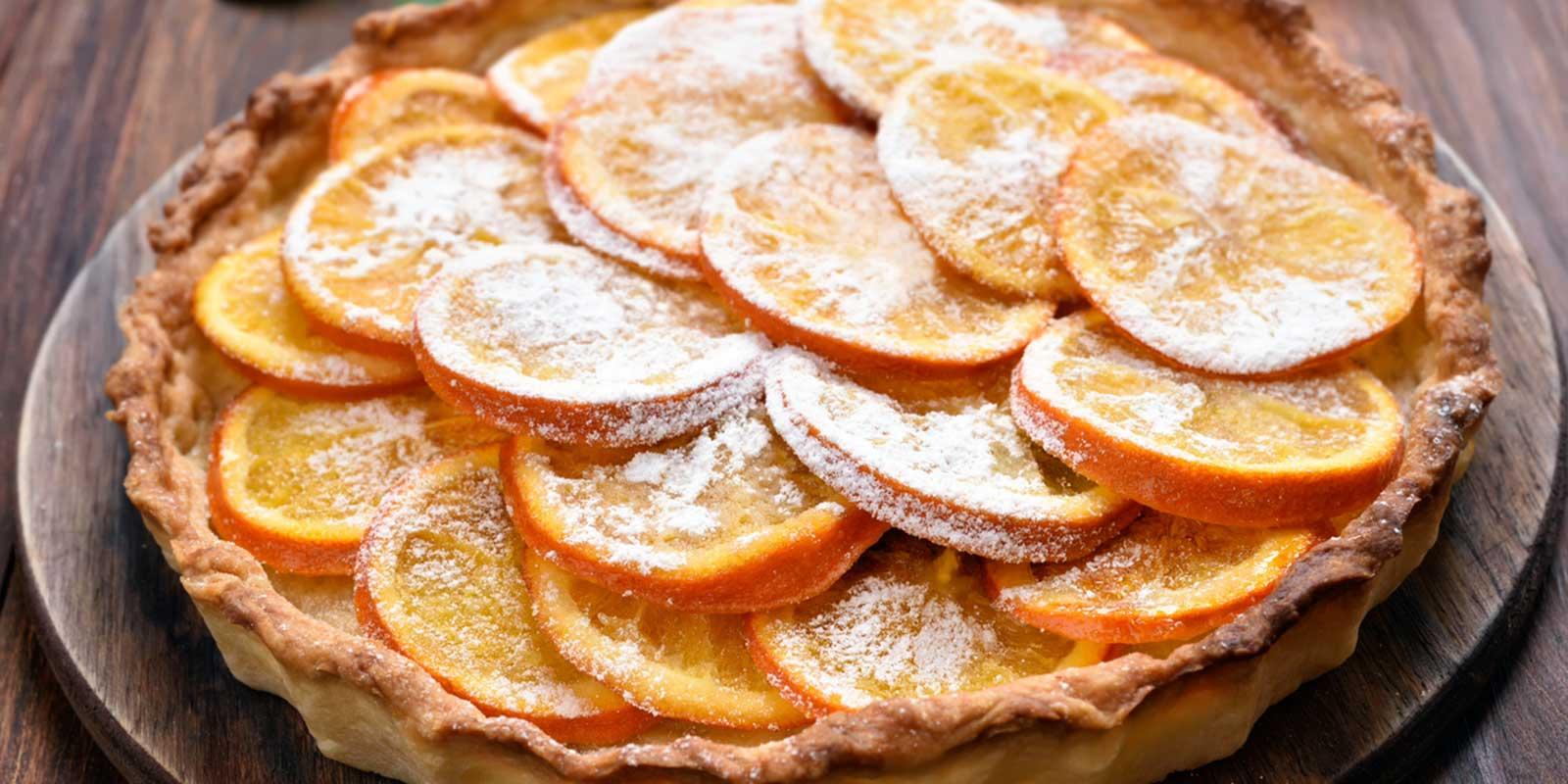 Crostata caramellata d'arance